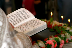 Bible in hands Stock Images