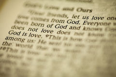 The Bible has a message royalty free stock photo