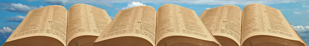 Bible header or footer Royalty Free Stock Photos
