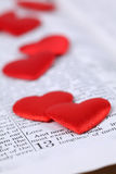 Bible and hearts Stock Photos