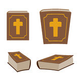 Bible is Holy Book set. Different version of Holy Book of ancie Royalty Free Stock Photo