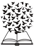 Bible Holy Spirit,a group of dove flying above the bible Royalty Free Stock Image