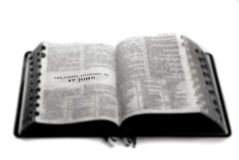 Bible Holy Word Spiritual Religion. Pages from Bible holy word spiritual religion Royalty Free Stock Photo
