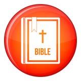 Bible icon, flat style Royalty Free Stock Image