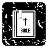 Bible icon, grunge style Royalty Free Stock Photos