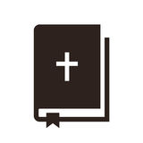 Bible icon. Isolated on white background Royalty Free Stock Photo