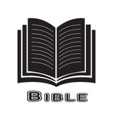 Bible icon isolated on white background. Vector illustration in flat style Royalty Free Stock Photography