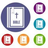 Bible icons set Royalty Free Stock Image