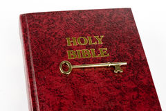 Bible with Key Royalty Free Stock Photo