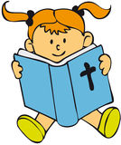 Bible Kid - Girl Stock Image