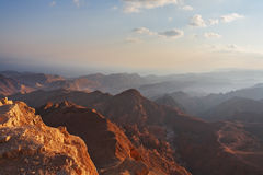 The bible landscape - Sinai and Red sea Stock Photo