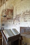 Bible & Lecture. St Marys Norman Church, Kempley, Newent, Gloucestershire royalty free stock photos