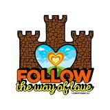 Bible lettering. Christian art. Follow the way of love. royalty free illustration