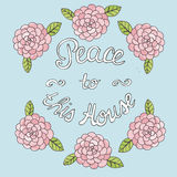 Bible lettering Peace to this house Royalty Free Stock Image