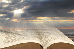 Bible light for mankind Royalty Free Stock Images