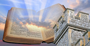 Bible light and tower Stock Photos