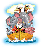 Bible noah's ark   ship noah salvation. Bible noah's ark   ship noah salvation   animal god family tree Stock Photo