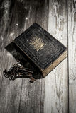Bible with old keys Stock Image