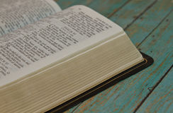 Bible opened to the Book of Pslams. Bible opened to the Book of Psalm royalty free stock photography