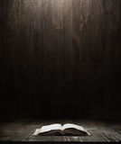 Bible over wooden background Stock Photos