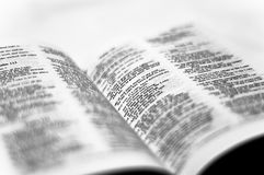 Bible Page Detail Stock Images