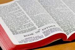 Bible Page - Esther Stock Photography