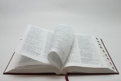 Bible pages stock photos