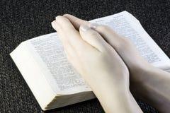 Bible and prayer Stock Photography