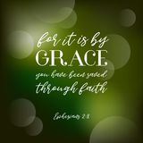 Bible quote typography poster with bokeh background