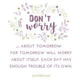 Bible quote, wreath leaf design, illustration.