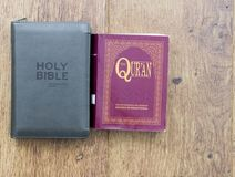 Bible and Quran royalty free stock photography