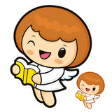 Bible reading Angel characters Stock Photo
