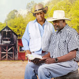Bible Reading Cowboy Couple Stock Images