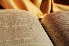 Bible, reading the holy book Stock Image