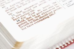 Bible religieuse. Images libres de droits