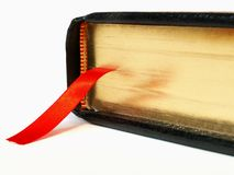 Bible with ribbon bookmark Royalty Free Stock Images
