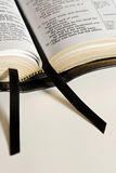 Bible Ribbons. Open Bible with two ribbons Royalty Free Stock Photography