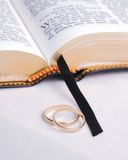 Bible and Rings 1 Royalty Free Stock Photo