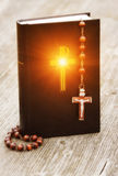 Bible and rosary Stock Photography