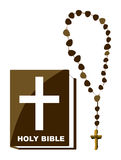Bible and Rosary Royalty Free Stock Image
