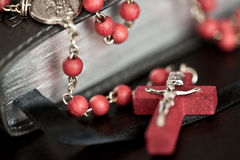 Bible and Rosary Stock Image