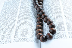Bible rosary beads Stock Images