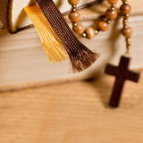 Bible And Rosary Royalty Free Stock Images