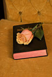 Bible and roses Stock Images