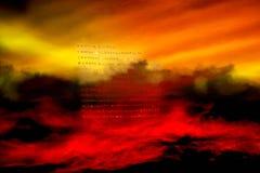 Bible rougeoyante Sainte Bible Photographie stock libre de droits