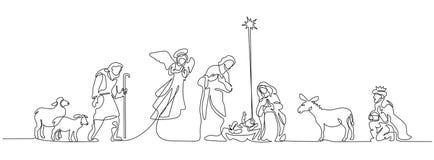 Free Bible Scene Of Holy Family. Vector Illustration Stock Photo - 130553220
