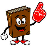 Bible School Mascot with Foam Finger Royalty Free Stock Photo