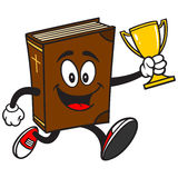 Bible School Mascot Running with Trophy Royalty Free Stock Photography