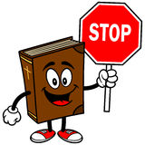 Bible School Mascot with Stop Sign Stock Photography