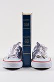 Bible and School Shoes Stock Images